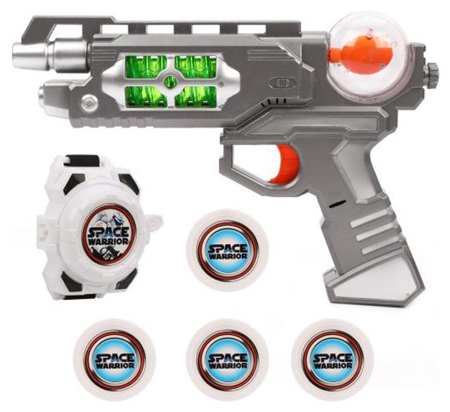 Купить Набор оружия Наша игрушка Бластер и наручный дискомет со световыми и звуковыми эффектами, Наборы игрушечного оружия