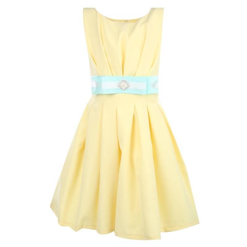 Купить Платье Сенди UNONA D'ART, цв. желтый, 146 р-р, Детские платья и сарафаны