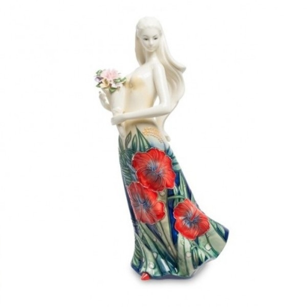 Статуэтка Pavone Девушка с букетом 31см фото