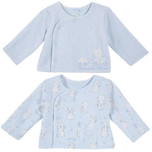 Распашонка Chicco для мальчиков и девочек голубая, размер 68