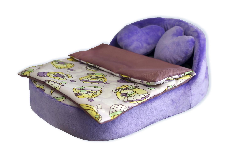 Купить Набор мягкой мебели для кукол Милая зайка , 4 предмета (сиреневый плюш), Belon, Аксессуары для кукол