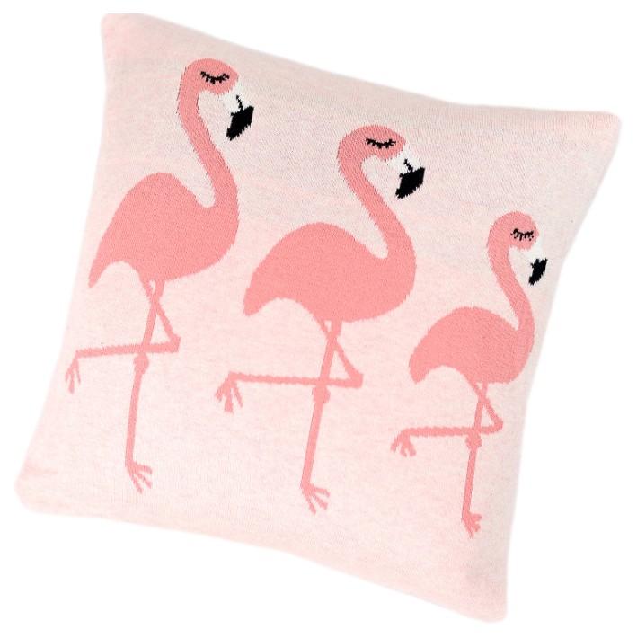 Купить Подушка Bizzi Growin (Биззи Гровин) Flamingos вязаная BG044, Детские подушки