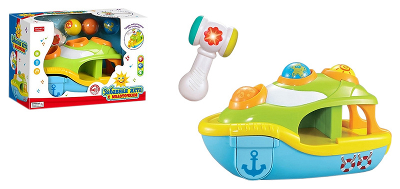 Купить Интерактивная игрушка Shantou Gepai Забавная яхта с молоточком ZY342153,