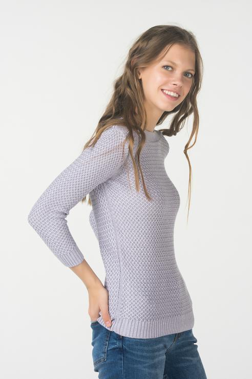 Джемпер женский Sela JR-114/2114-8351 фиолетовый M фото
