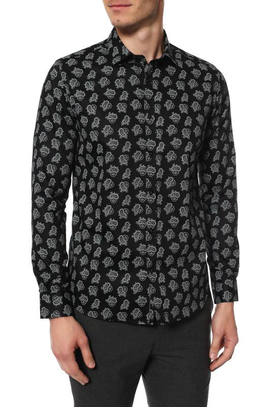 Рубашка мужская MONDIGO 16645 черная XL