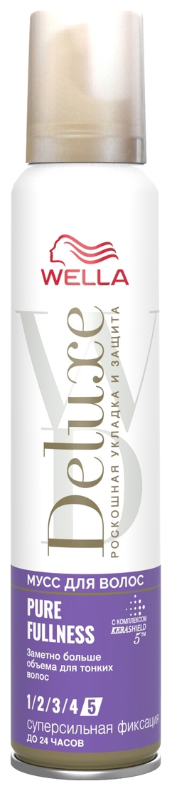 Мусс для волос Wella Deluxe Pure Fullness суперсильная фиксация 200 мл