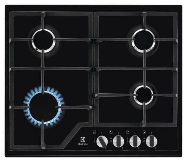 Встраиваемая варочная панель газовая Electrolux GPE 263 MB Black фото