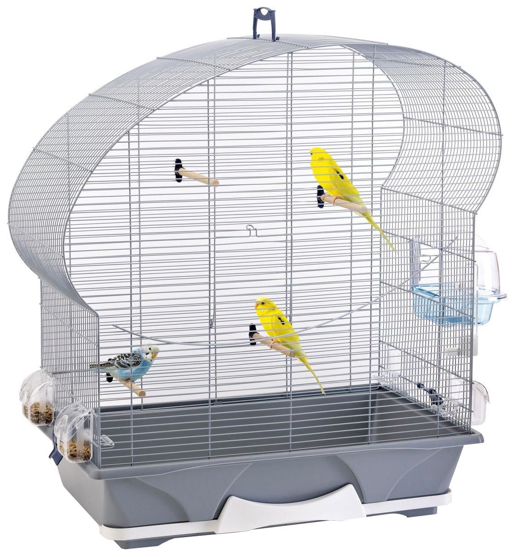 Клетка для птиц Savic Ellipse 50 Серебряный/Голубой фото