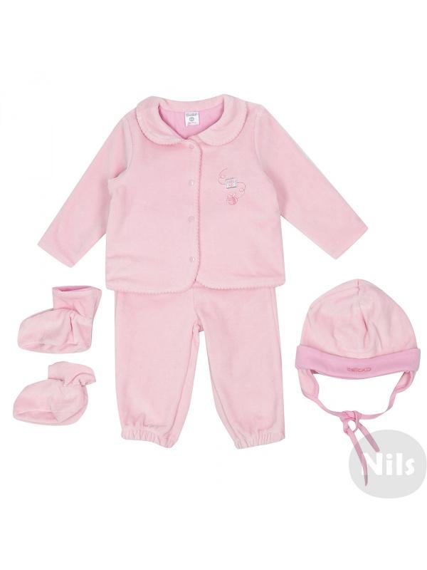 Комплект одежды 4 пр. CROCKID Розовый р.68 фото