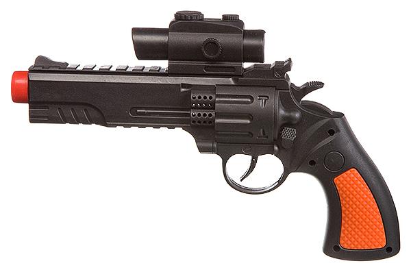 Купить Огнестрельное игрушечное оружие Shenzhen Toys Револьвер с прицелом 17 см,