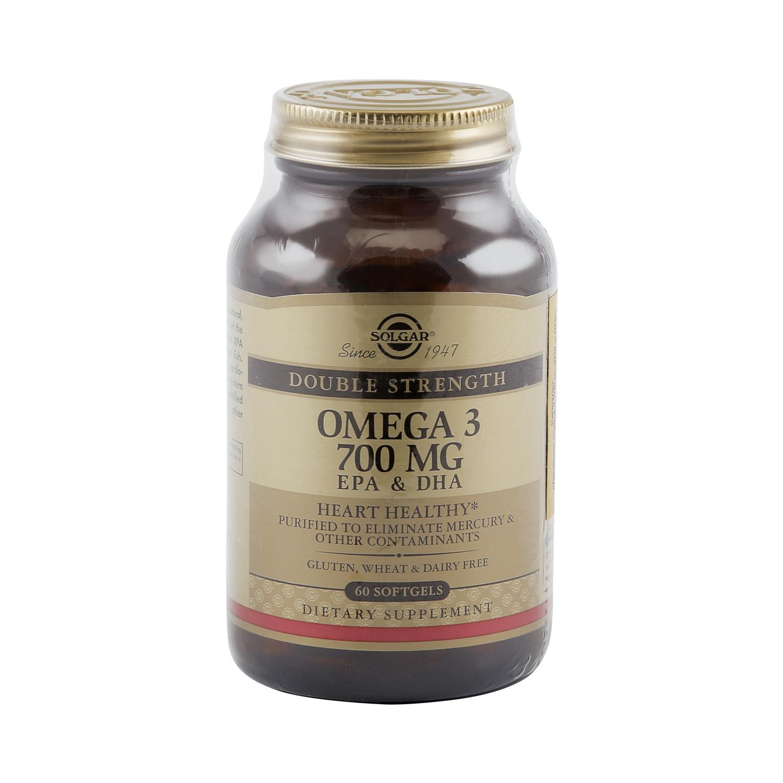 Купить Двойная омега -3 700 мг ЭПК и ДГК, Solgar Двойная Омега капсулы 60 шт.