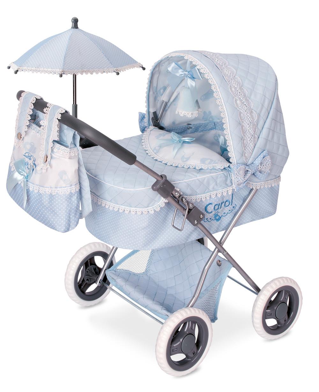 Купить Коляска для кукол DeCuevas с сумкой и зонтиком Кэрол 60 см, Коляски для кукол