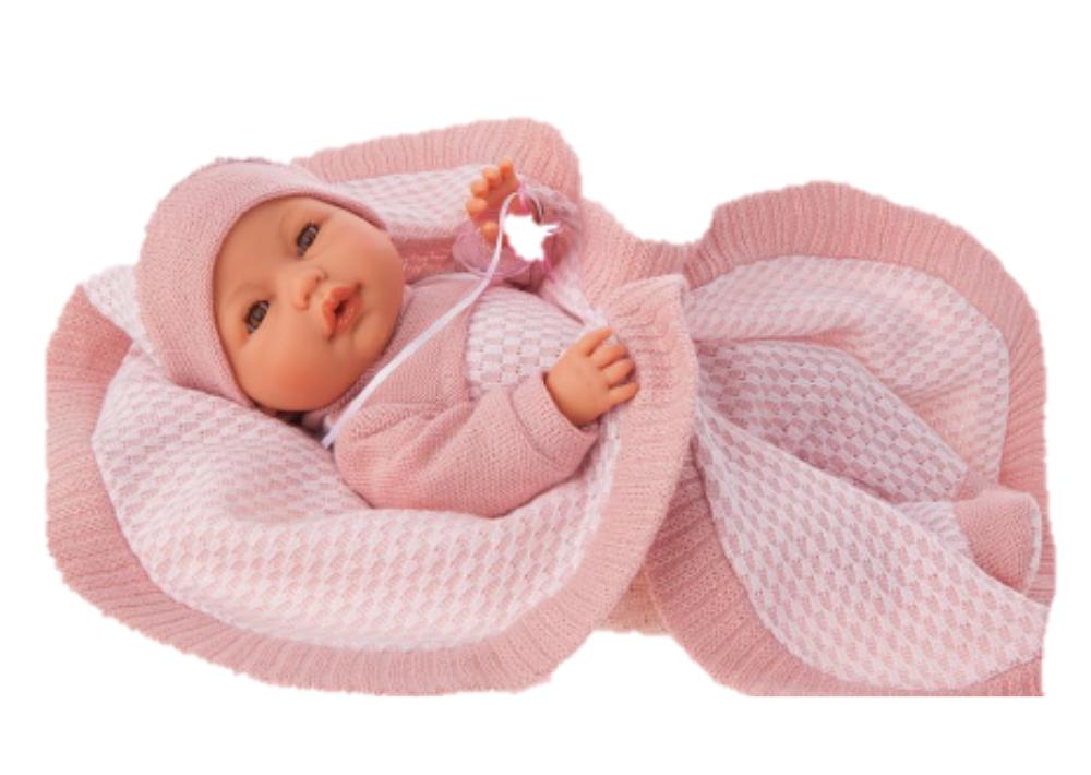Купить Кукла Antonio Juan Амая в розовом плачет, открываются глаза 37 см, Классические куклы