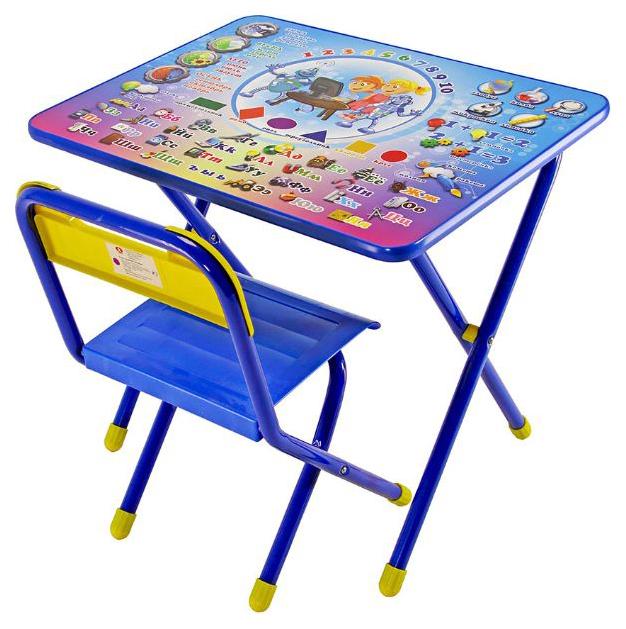 Комплект детской мебели Дэми №1 стол+стул Электроник синий
