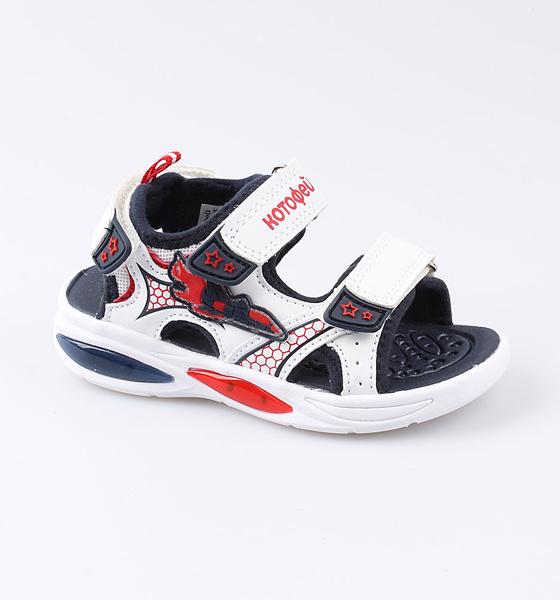 Купить Пляжная обувь Котофей для мальчика р.25 324023-13 белый, Шлепанцы и сланцы детские