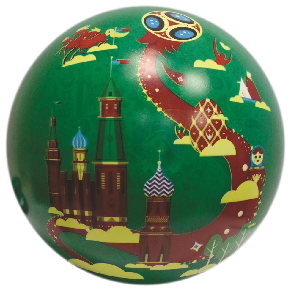 Купить Мяч Innovative ltd FIFA 2018 23 см Город и Кубок зеленый, Детские мячи