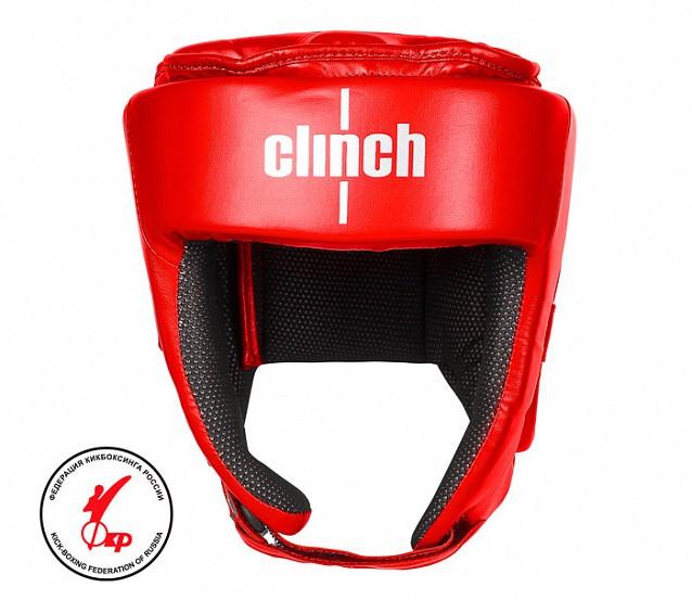 Шлем для единоборств Clinch Helmet Kick красный