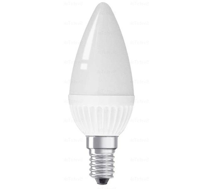 Лампа светодиодная Estares Свеча E14 6W (480lm) 2K 95x35 матовая ES-CD-6-WW-220-E14