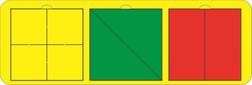 Головоломка Собери квадрат, 3 фигуры (уровень 1) 630147