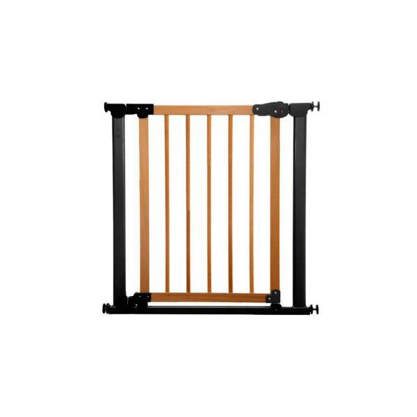 Safe&care ворота на распорках сосна черный (т.серый) 77-83.5см