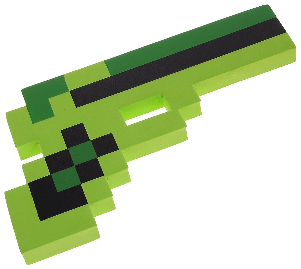 Купить Игровой набор Пистолет Пиксельный Зеленый 24См, Minecraft,