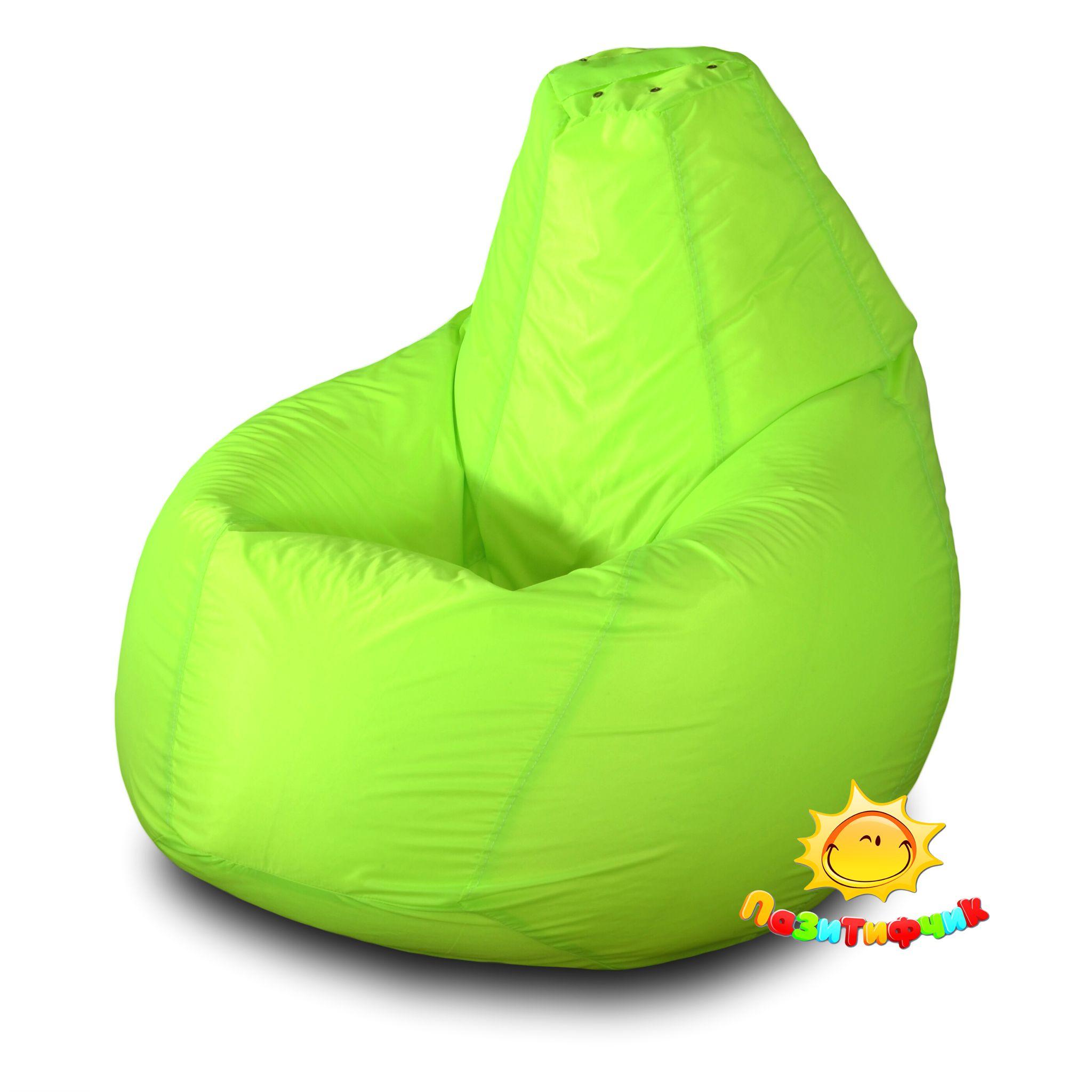Кресло-мешок Pazitif Груша Пазитифчик, размер L, оксфорд, лимонный фото