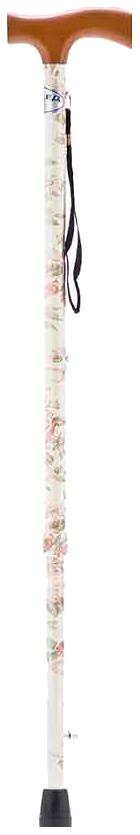 Купить Трость Армед YU821 с УПС белый с цветами светлое дерево, Armed