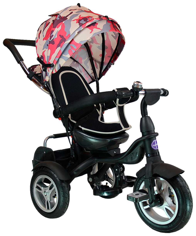Купить Велосипед трехколесный Farfello TSTX6688-4 камуфляж красный, Детские велосипеды-коляски