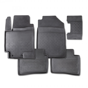 Резиновые коврики SEINTEX с высоким бортом для Volkswagen Touareg II с 2010 / 82716