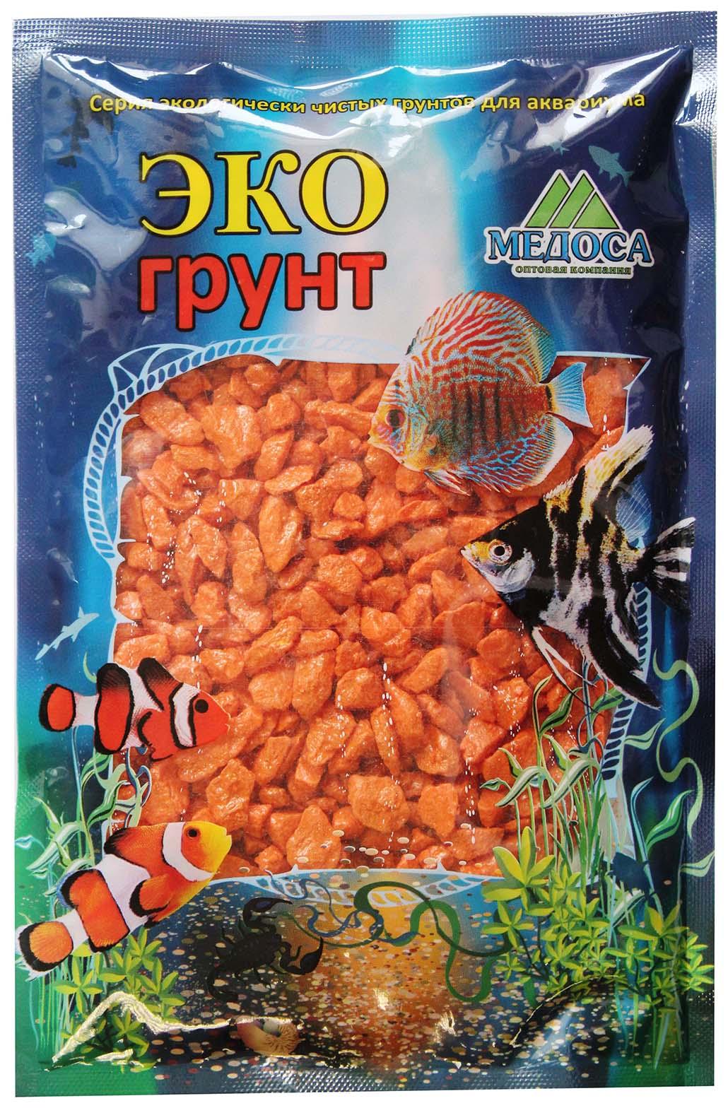 Грунт для аквариума ЭКОгрунт Мраморная крошка Оранжевая