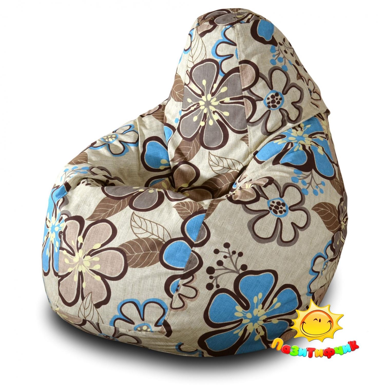 Кресло-мешок Pazitif Груша Пазитифчик Беатриче 05, размер XXL, жаккард, разноцветный фото