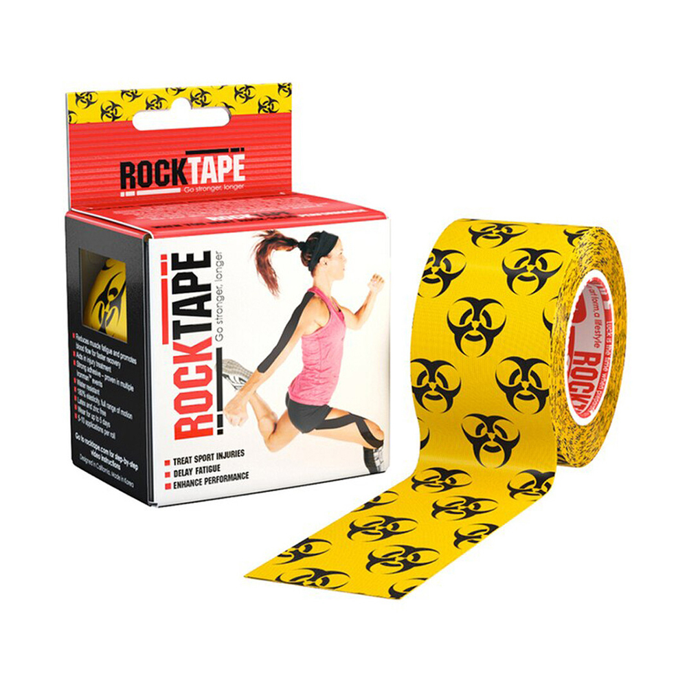 Кинезиотейп Rocktape Classic, 5 см х 5 м, Biohazard