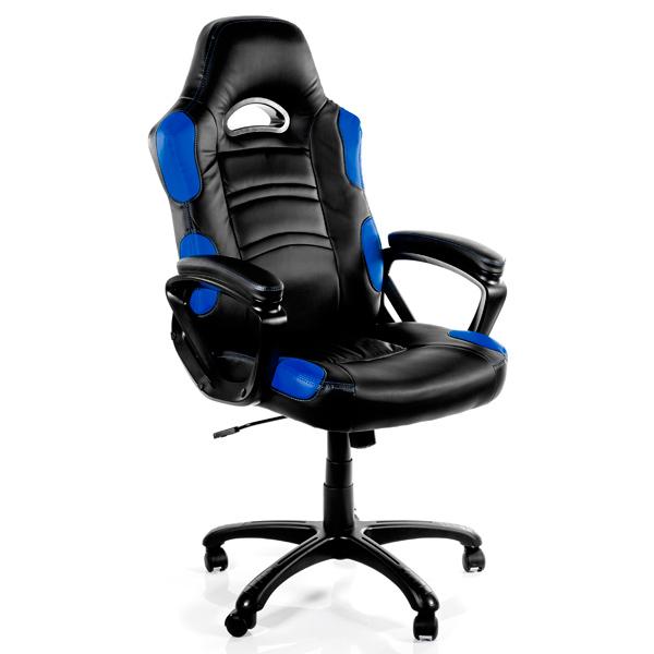 Игровое кресло Arrozzi enzo-bl, синий/черный фото