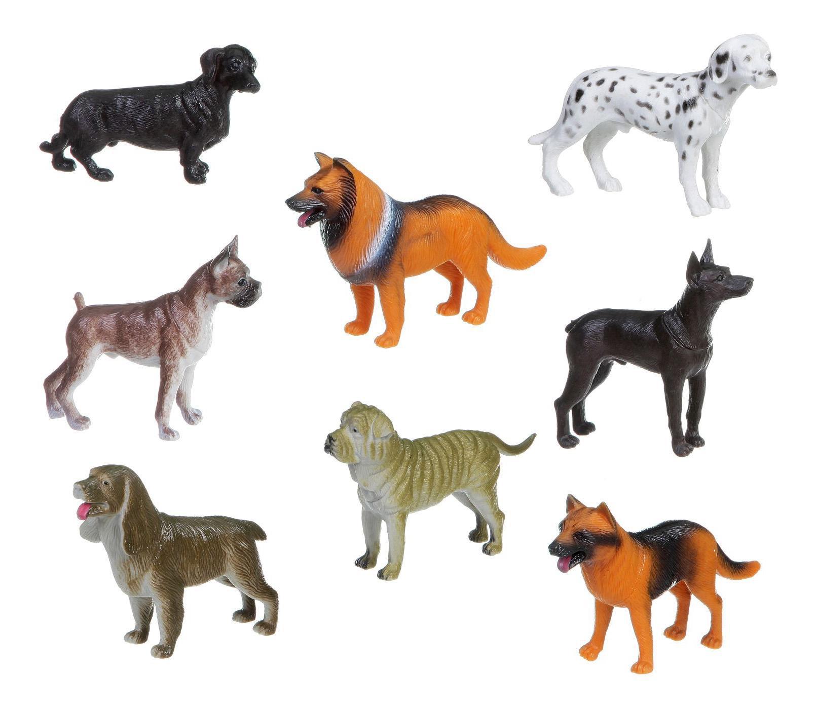 Купить Набор животных Bondibon ребятам о зверятах, собаки 8 видов в ассортименте, Фигурки животных