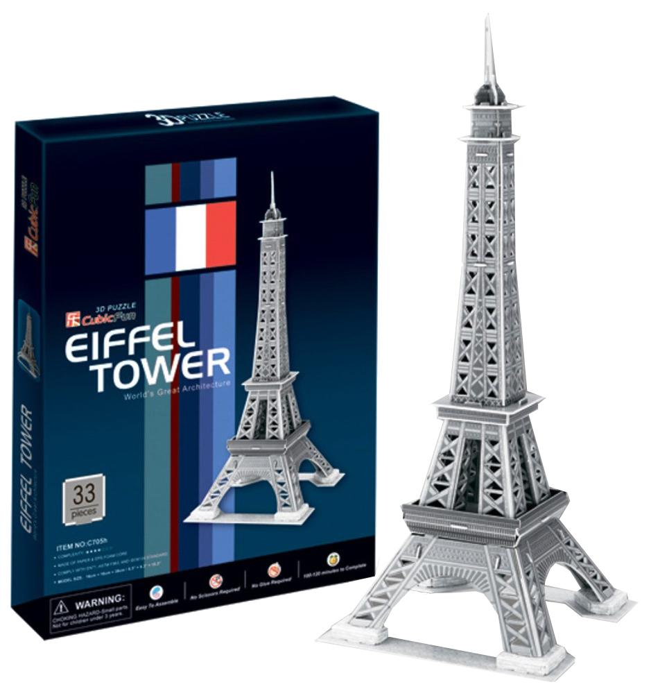 Купить Пазл Cubic Fun 3D C705h Кубик фан Эйфелева Башня 2 (Париж), CubicFun, Пазлы