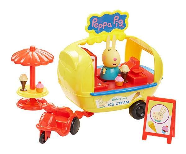 Купить Игровой набор Peppa Pig 30628 Свинка Пеппа Кафе-мороженое Ребекки, Игровые наборы