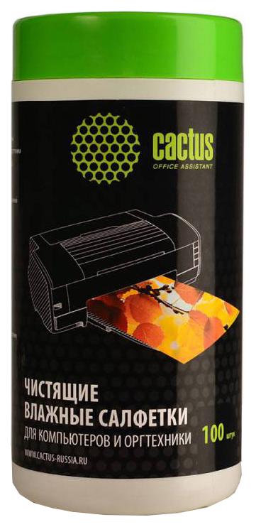 Салфетка для уборки Cactus CS-T1002 для компьютеров и оргтехники 100 шт фото