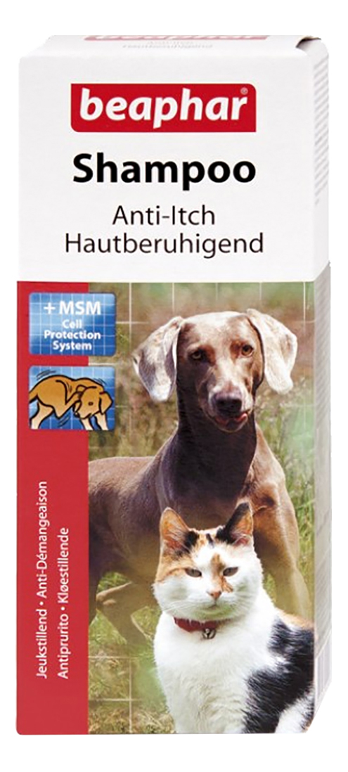 Шампунь для собак Beaphar Anti-Itch против зуда, экстракт алоэ вера, хвоя, 200 мл
