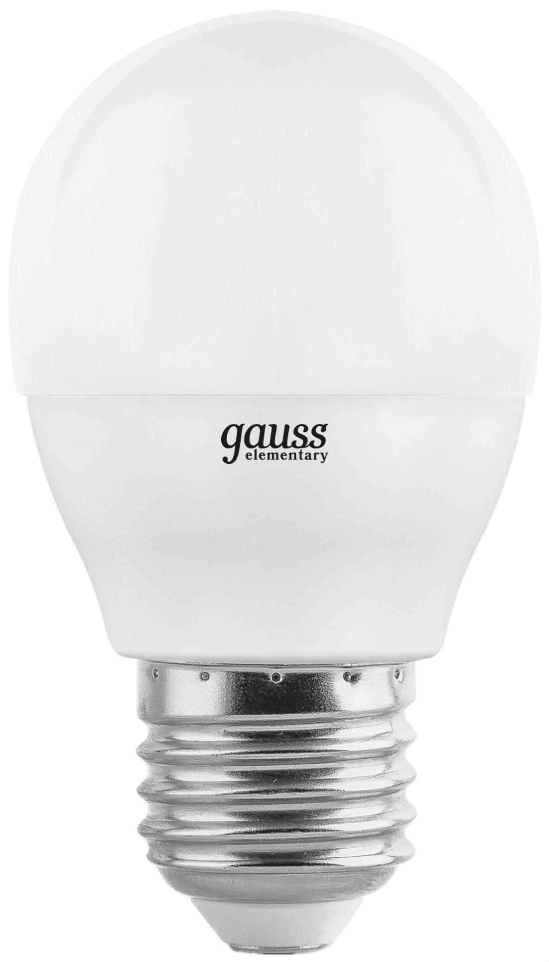 Лампа светодиодная Gauss Elementary 53216 6W E27 2700K фото