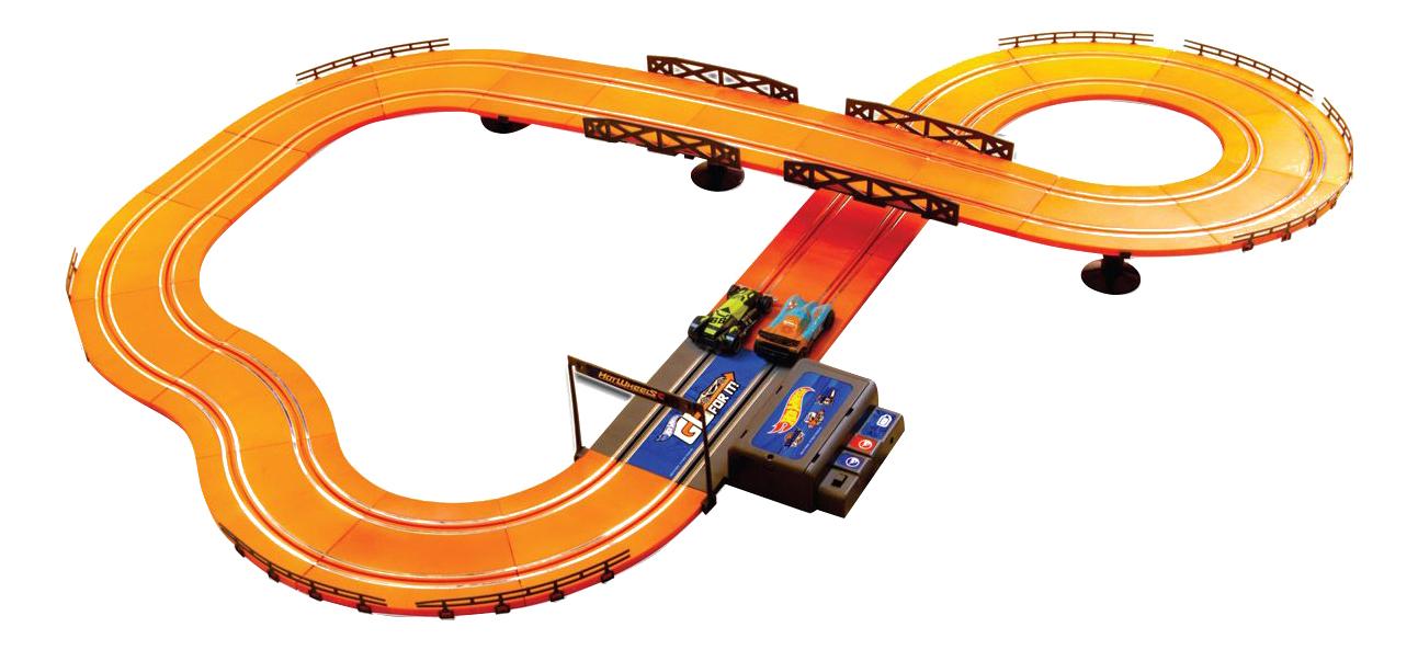 Купить Hot Wheels 380 см, Набор игровой KidzTech Hot Wheels Гоночный трек 83107 380 см, Детские автотреки