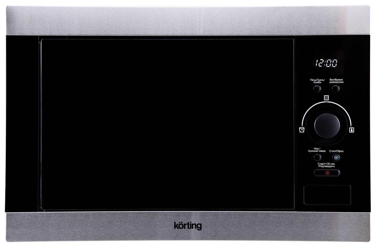 Встраиваемая микроволновая печь Korting KMI 825 XN Silver/Black фото