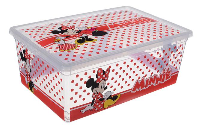 Ящик для хранения игрушек Idea Idea Деко Дисней Минни красно-белый 10 л