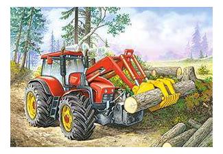 Трактор, Пазл Castorland 60 деталей,  - купить со скидкой