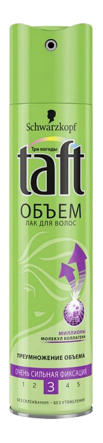 Лак для волос Taft TAFT Лак для волос Senso-Touch Объем очень сильная фиксация 225 мл