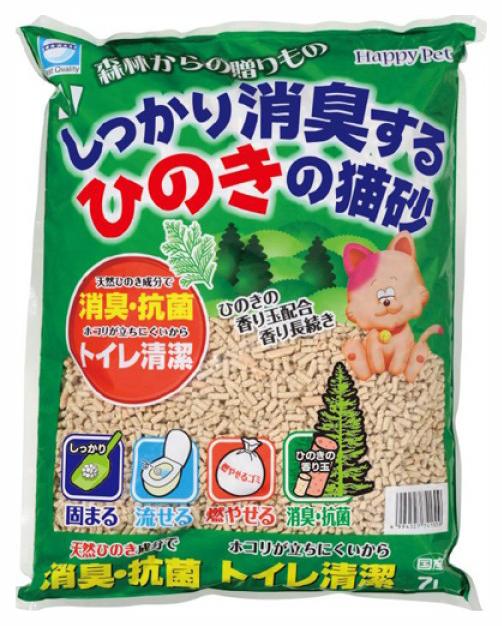 Комкующийся наполнитель для кошек Japan Premium Pet древесный, японская ель, 3 кг, 7 л фото