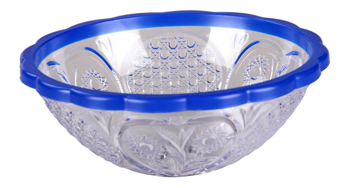 Салатник Хрусталь 0,5 л, прозрачно-синий