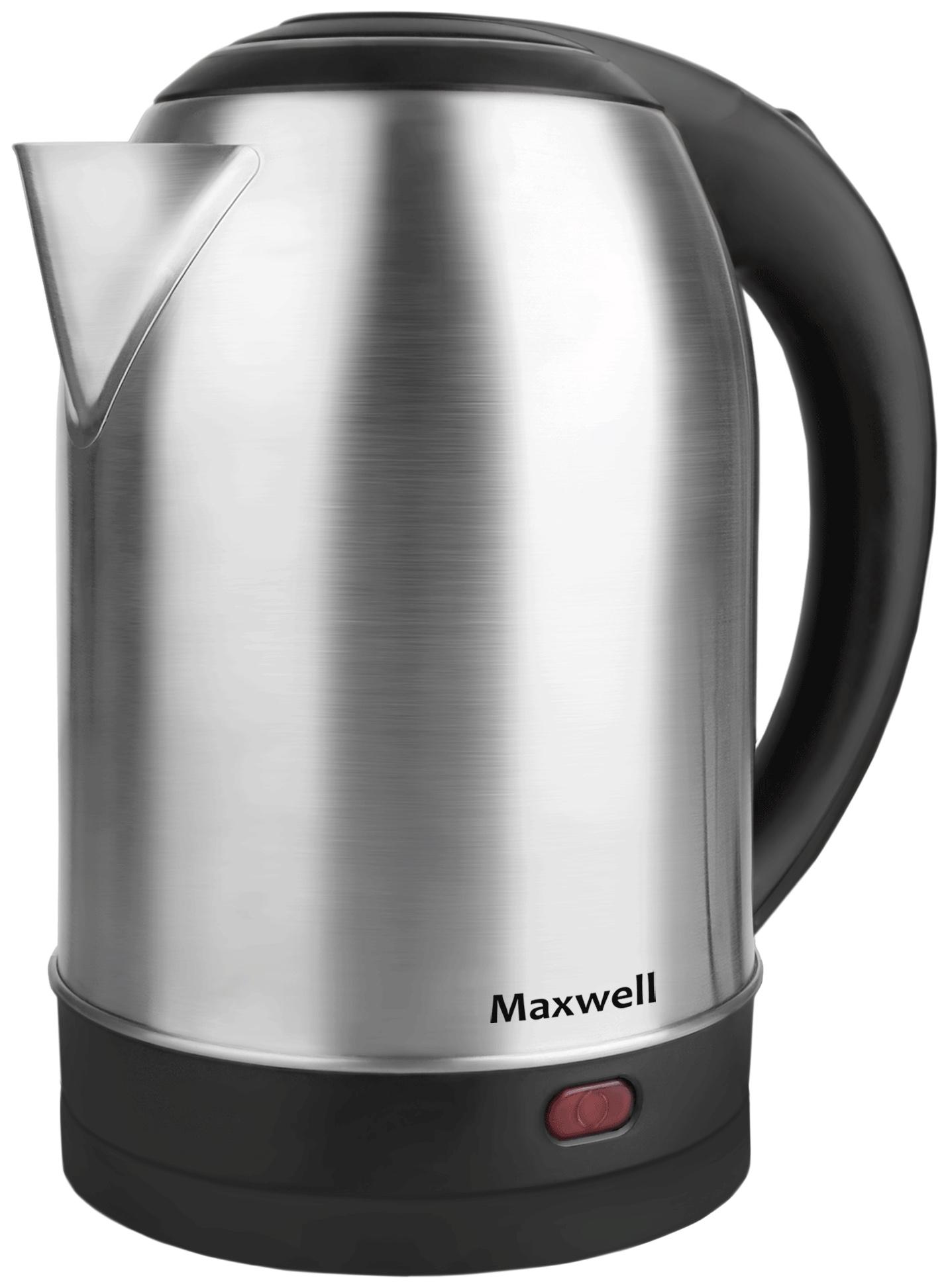 Чайник электрический Maxwell MW 1077ST Black/Silver