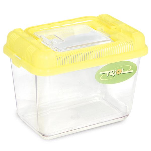 Переноска для грызунов Triol желтый пластик 18.5x11.8x13.5