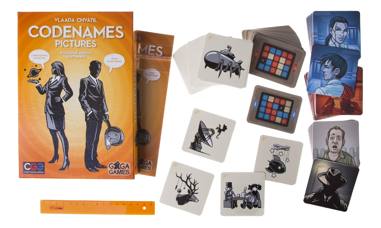 Купить Семейная настольная игра GaGaGames Кодовые имена Картинки, Gaga Games, Семейные настольные игры