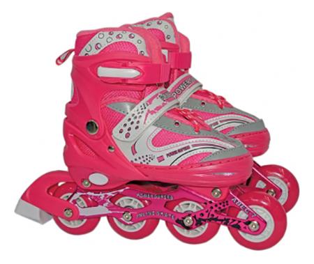 Роликовые коньки раздвижные детские Navigator L (38-41) розовые